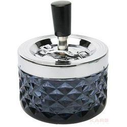 Kare Design Popielniczka Cristallo Smoke antracytowa - 68825a - produkt z kategorii- Popielniczki