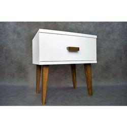 Nowoczesna szafka nocna drewniana SAVONA z nogami w kolorze dębu