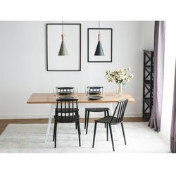 Stół do jadalni biały 180 x 90 cm FLOW