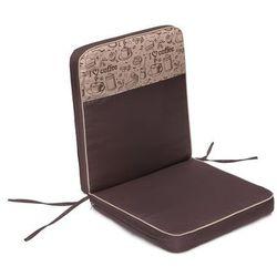 Poduszka Coffee Low - Brąz z beżową kawą top - 97x47 cm