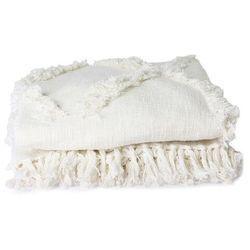 Hkliving narzuta z frędzlami biała (270x270) tts1029