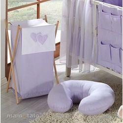 MAMO-TATO Kosz na bieliznę Serduszka w Fiolecie, kup u jednego z partnerów
