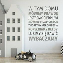 Szablon malarski sentencja: w tem domu mówimy prawdę 1941 marki Wally - piękno dekoracji