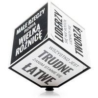 Gadget factory Motivation cube - kostka motywacyjna (pl) - czarno-biały (5906660864592)