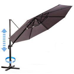 Myard  parasol ogrodowy, boczny roma - szary