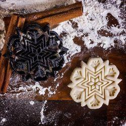 Płatek śniegu - foremka 3d do ciastek - foremka 3d marki Mygiftdna
