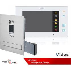 zestaw wideodomofonu skrzynka na listy z szyfratorem monitor 7 cali s1401d-skm+m1021w marki Vidos