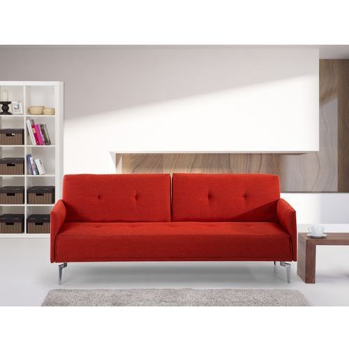 Sofa do spania - kanapa rozkladana - marchewkowa - Lucan - oferta [056a2e76c7b1045d]