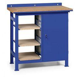 B2b partner Stół warsztatowy z metalowymi szufladami i półkami