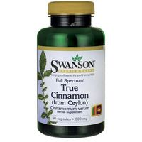 Swanson Full Spectrum True Cinamon (Cynamon cejloński) 600mg 90 kaps. - sprawdź w wybranym sklepie