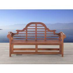 Piękna ławka lite drewno 180cm toscana marlboro marki Beliani