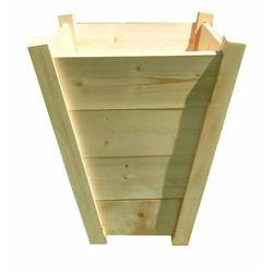 Duża drewniana pionowa donica ogrodowa 15 kolorów - katris marki Elior