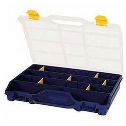 TAYG - Organizer na końcówki, elektronikę, śrubki itp. - 378 x 290 x 61 mm - 21 wyjmowanych przegródek