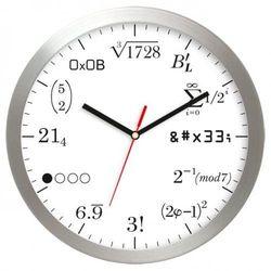 Zegar aluminiowy matematyka #10