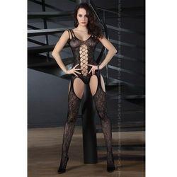 Livia corsetti Turquoise seksowne bodystocking ze sznurowaniem na ramiączkach