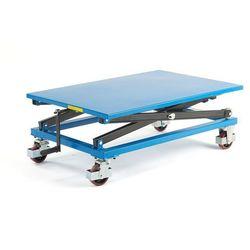 Ręczny stół podnoszący, na kółkach, 350 kg, 1200x800x450 mm, 31021