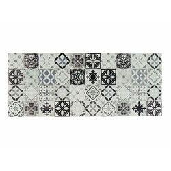 Vente-unique Winylowy chodnik mosaÏ z motywem cementowych płytek – 66 × 160 cm – kolor czarny i biały