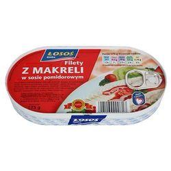 Makrela filet w sosie pomidorowym 90g, marki Łosoś