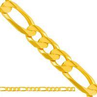 Złoty łańcuszek pełny figaro lp034, marki Nie