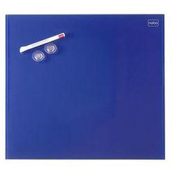 Tablica suchoś. -magn. NOBO Diamond, 45x45cm, szklana, niebieska (5028252419796)