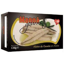 Portugalskie filety z makreli atlantyckiej w oliwie 120g Manná GOURMET (5601721211055)