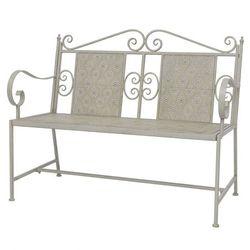 ławka ogrodowa ze stali, 115 x 58,5 93 cm, szara marki Vidaxl