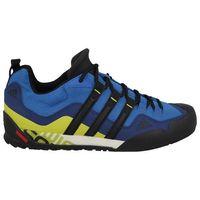 Adidas Buty  terrex swift solo (ba8491) - niebieski ||czarny ||żółty
