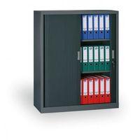 Szafa metalowa z żaluzjowymi drzwiami, 1200x1000x450 mm, ciemnoszary