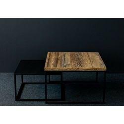 Reqube Zestaw industrialnych stolików kawowych duo2 stare drewno szczotkowane