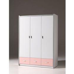 Vipack Szafa trzydrzwiowa bonny pink (5420070216937)