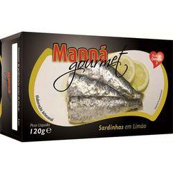 Sardynki portugalskie z cytryną 120g Manná GOURMET (przetwór rybny)