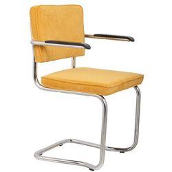 Zuiver  fotel ridge kink rib żółty 24a 1200053