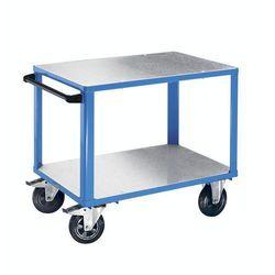 Eurokraft Wózek montażowy premium,2 powierzchnie ładunkowe z nakładkami z ocynkowanej blachy stalowej