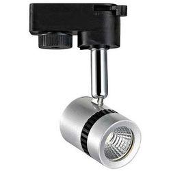 Lampa sufitowa hl835l 02719  ścienna oprawa kinkiet led 5w naświetlacz do systemu szynowego 1 - fazowego tuba srebrny marki Ideus