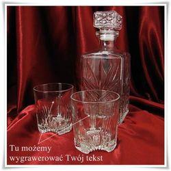 Komplet do whisky: karafka + 6 szklanek z możliwością graweru dedykacji - produkt z kategorii- Na parapetó