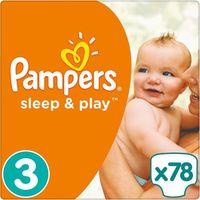 PAMPERS Sleep&Play 3 MIDI 78 szt. (4-9 kg) JUMBO PACK – pieluszki jednorazowe, towar z kategorii: Pieluchy j