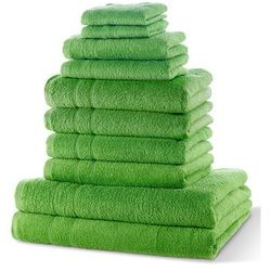 """Bonprix Komplet ręczników """"new uni"""" (10 części) zielone jabłuszko"""