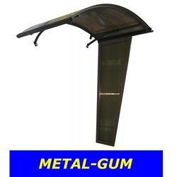 Metal-gum Daszek nad drzwi łukowy zadaszenie 160x90+ ścianka 130
