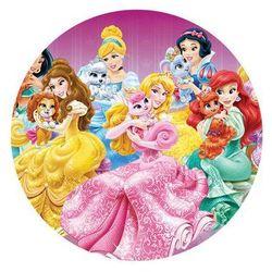 Dekoracyjny opłatek tortowy princess - księżniczki - 20 cm - 4 marki Modew