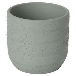 Doniczka ceramiczna C71 GoodHome ozdobna 9 cm szara