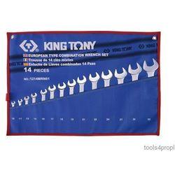 ZESTAW KLUCZY PŁASKO-OCZKOWYCH 14cz. 10 - 32mm King Tony 1214MRN01, 1214MRN01