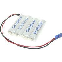 Pakiet akumulatorów AA, NiMH Panasonic eneloop Reihe F1x4 Graupner, Ilość ogniw: 4, 4.8 V, 1900 mAh, Przew�