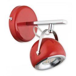 Lemir Flavio kinkiet 1 pł. / chrom + czerwony, dodaj produkt do koszyka i uzyskaj rabat -10% taniej! (5902082864103)