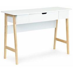 Biurko, stolik do pokoju, białe, 107 cm (5903769971879)