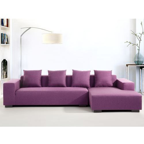 Sofa fioletowa - sofa narozna L - tapicerowana - LUNGO (sofa)