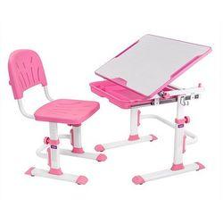 Lupin cubby pink - ergonomiczne, regulowane biurko dziecięce z krzesełkiem - złap rabat: kod30 marki Fundes