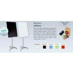 2x3 Flipchart szklany biały magnetyczny 70x100cm, megnetyczna