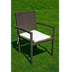 Krzesło ogrodowe Quadro z technorattanu ciemny brąz, BG-0040