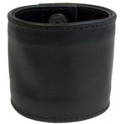Wąska skórzana opaska na nadgarstek czarna, Rozmiar - XL