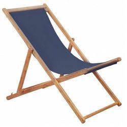 Granatowy leżak drewniany - inglis 2x marki Elior